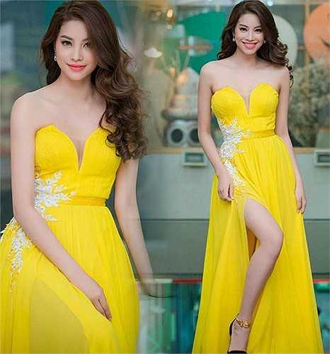 Phạm Hương tỏa sáng trong từng bộ đầm dạ tiệc như đầm xẻ đùi, đuôi cá, đầm bodycon.