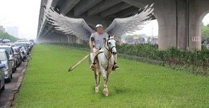 ...hay kỵ binh Vạn lý trường chinh (Ảnh: KTS Nho)