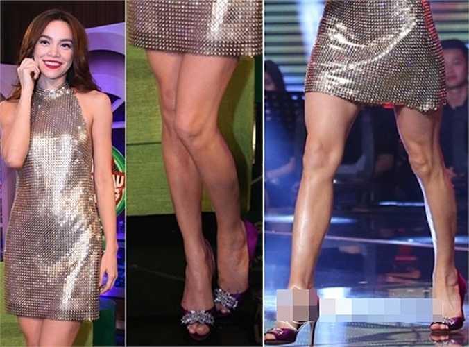 Bắp chân của cô cũng khá bé so với cơ thể.