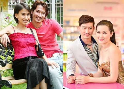 Vợ cũ Hoàng Anh và vợ mới Mạc Anh Thư của chàng diễn viên đào hoa Huy Khánh.