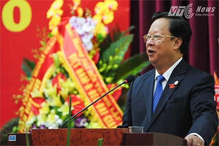 Chủ tịch Liên hiệp các tổ chức hữu nghị Việt Nam Vũ Xuân Hồng phát biểu tại đại hội