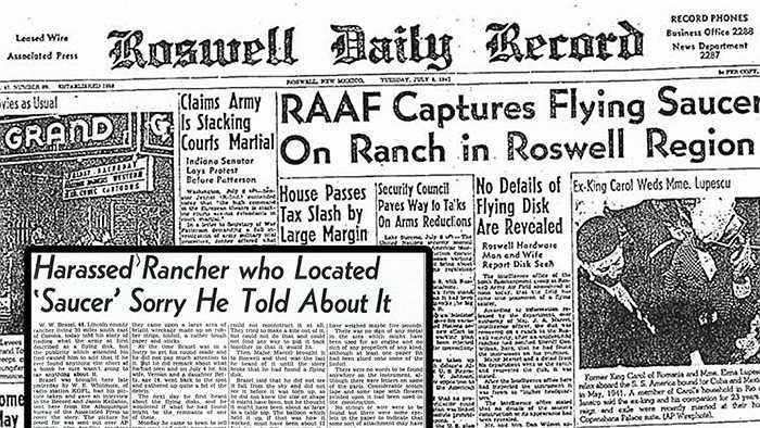 Roswell, New Mexico - Năm 1947, William Brazel phát hiện một vùng sáng bí ẩn hạ cánh tại Roswell và họ đã báo cảnh sát. Một cuộc điều tra lớn diễn ra những không tìm thấy dấu hiệu nào. Tuy nhiên, sau đó ở thị trấn này đã xuất hiện nhiều hiện tượng kỳ lạ, khó giải thích