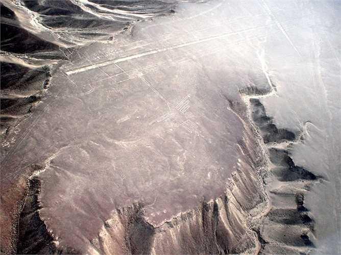 Đường Nazca, Peru. Theo truyền thuyết, những người Nazca cổ đại đã vẽ những hình này trên mặt đất. Chưa có gì chứng minh nhưng nhiều bằng chứng cho rằng đây chính là cách mà người Nazca liên hệ với người ngoài hành tinh