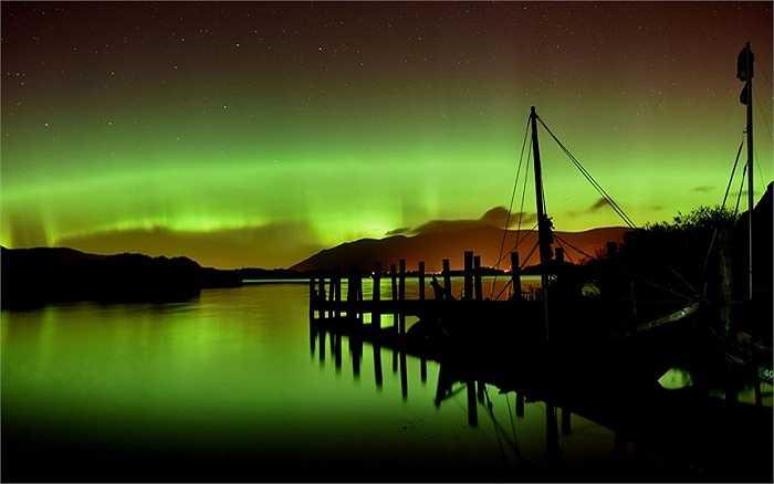 Hình ảnh cực quang tuyệt đẹp ở Derwentwater, gần Keswick, Lake District, Anh