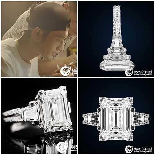 Cả ba chiếc nhẫn kim cương trên đều do Huỳnh Hiểu Minh thiết kế và đặt riêng tại một thương hiệu trang sức không phải cao cấp, là C2B. Những chiếc nhẫn này nằm trong dòng nhẫn Love  Baby của riêng Huỳnh Hiểu Minh, được chế tác trong thời gian 3 tháng với nhiều lần chỉnh sửa, gia công tỉ mỉ. Đến nay giá trị thực của chúng vẫn chưa được tiết lộ.