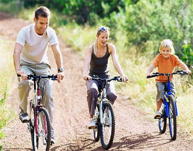 Đi xe đạp: xe đạp sẽ giúp tăng sự trao đổi chất. Nó là một phương pháp hiệu quả tiêu hao năng lượng. Nó đốt cháy calo bằng cách thúc đẩy sự trao đổi chất. Điều này sẽ giúp giảm cân một cách lành mạnh.
