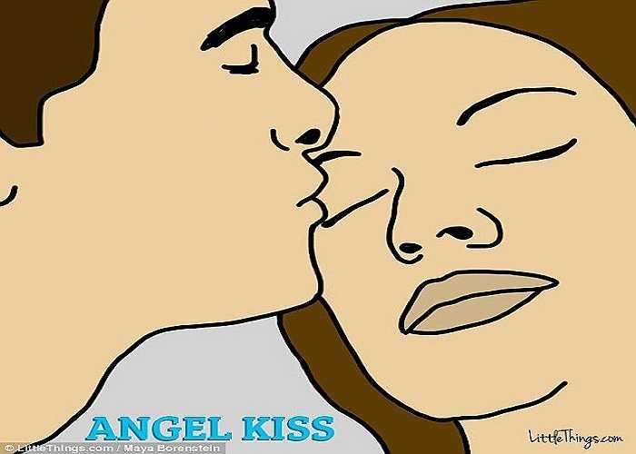 Nụ hôn 'thiên thần'. Khi một người hôn nhẹ vào mí mắt khép kín của người khác thì nó được gọi là nụ hôn thiên thần. Loại nụ hôn này cho thấy một cử chỉ thân mật như một sự che chở của người hôn dành cho người được hôn. Nó còn có ý nghĩa biểu tượng là sự quan tâm, tin tưởng giữa hai người.