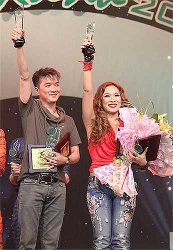Có lần, Đàm Vĩnh Hưng đã lặn lội bay từ Sài Gòn ra Hà Nội chỉ để tặng cho Họa mi tóc nâu 1 bó hoa.