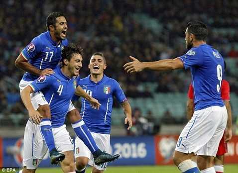 Darmian có bàn thắng đầu tiên cho ĐT Italia