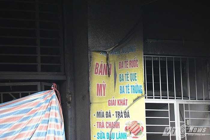 Các cửa hàng ở tầng trệt đến tầng 3, 4 đều bị ảnh hưởng lớn bởi vụ cháy.
