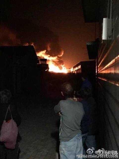 Cột khói bốc lên cao ở hiện trường vụ nổ
