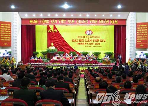 Quang cảnh Đại hội Đại biểu Đảng bộ tỉnh Quảng Ninh lần thứ XIV (nhiệm kỳ 2015 - 2020) - Ảnh MK