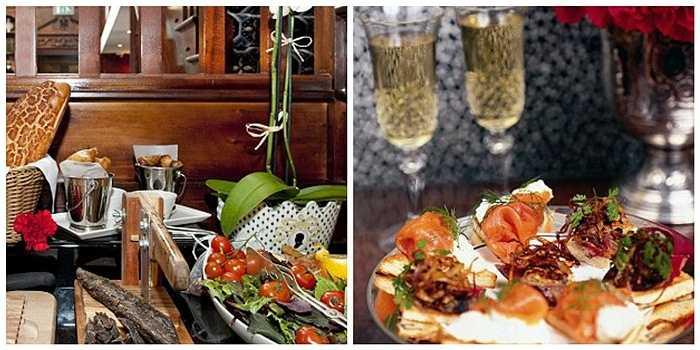 Du khách có cơ hội thưởng thức những món ăn nhẹ do đầu bếp chuẩn bị được phục vụ miễn phí