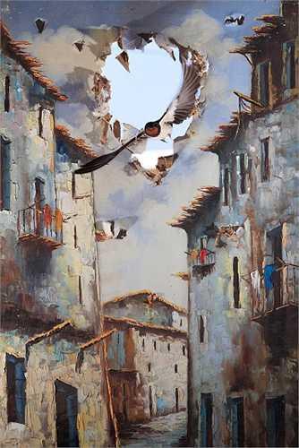 Giải thưởng Nhiếp ảnh gia ấn tượng được trao cho chủ nhân của bức ảnh về cuộc sống của chim nhạn trong một trang trại ở Almeria, miền nam Tây Ban Nha