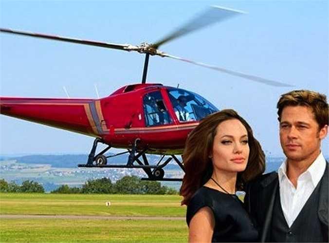 Angelina Jolie tặng Brad Pitt một chiếc trực thăng làm quà giáng sinh. Không những thế, cô còn trả tiền khóa học lái trực thăng cho Pitt