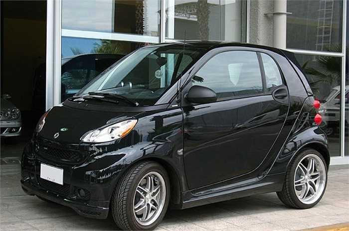 Smart Fortwo (Thương hiệu thuộc Tập đoàn Daimler, Đức). Hầu hết những người từng mua nó không hài lòng với mức tiêu thụ nhiên liệu so với khả năng chuyên chở, tỷ lệ không cân xứng.