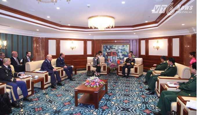 Quang cảnh buổi tiếp - Ảnh: Hồng Pha