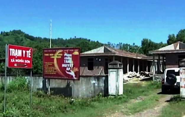 Trạm y tế xã Nghĩa Sơn - nơi xảy ra vụ việc
