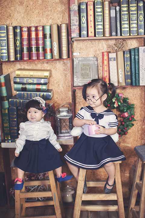 Vẻ đáng yêu của hai công chúa Cherry và Sunny nhà Hải - Hà đã hoàn toàn đốn tim người hâm mộ.