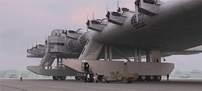 Ý tưởng tạo ra một chiếc máy bay khổng lồ được quân đội Liên Xô đưa ra vào những năm 1930