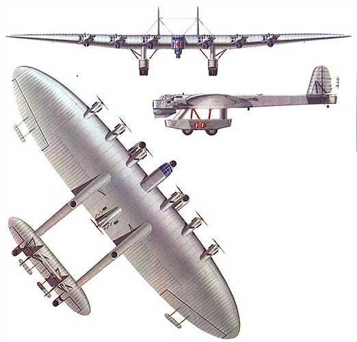 Bản vẽ thiết kế của 'pháo đài bay'