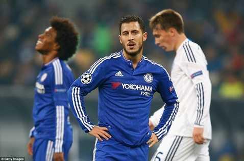 Hazard trở lại đội hình xuất phát nhưng Chelsea vẫn không thắng