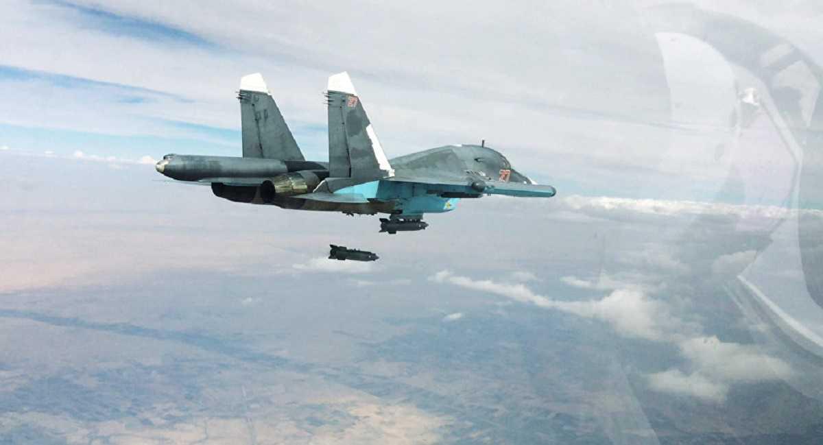 Chiến cơ Su-34 của Nga thả bom