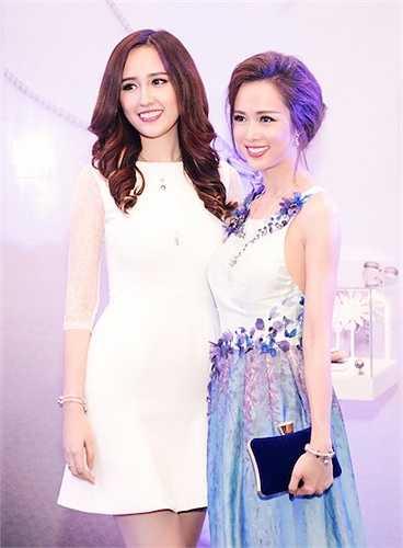 Tại sự kiện, cô đã có dịp hội ngộ với người đẹp Vũ Ngọc Anh.