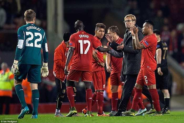 1 điểm tại Anfield không hẳn là tồi, và có vẻ Jurgen Klopp chấp nhận điều này