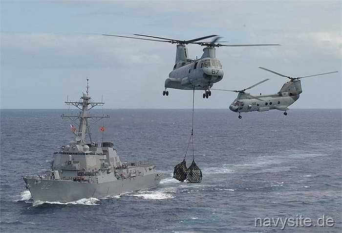 Tàu USS Lassen sẽ được các máy bay do thám P-8A và P-3 hộ tống
