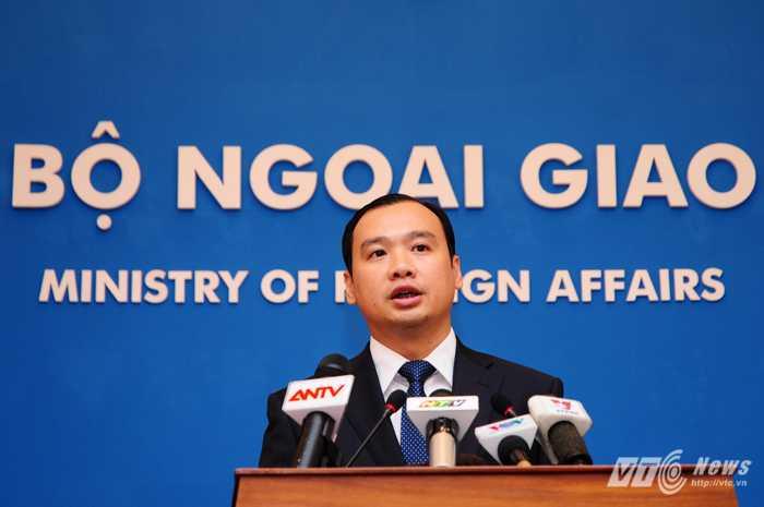 Người phát ngôn Bộ Ngoại giao Việt Nam, Lê Hải Bình - Ảnh: Tùng Đinh