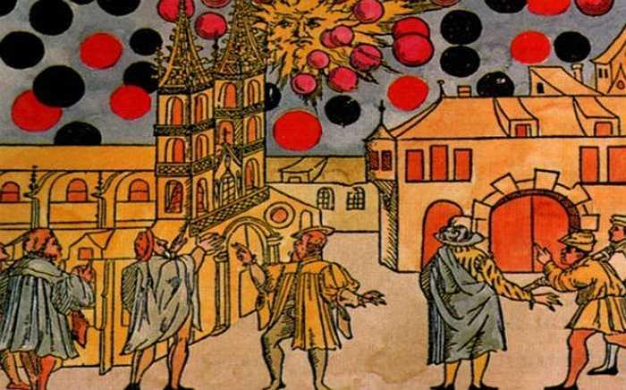 Một bức tranh trên gỗ do nhà điêu khắc Hans Glaser thực hiện năm 1566 đã miêu tả một cuộc chiến ác liệt giữa các đĩa bay trên bầu trời Nuremberg, Đức ngày 4/4/1561. Đây được coi là trường hợp có nhiều người cùng lúc nhìn thấy UFO đầu tiên trong lịch sử.