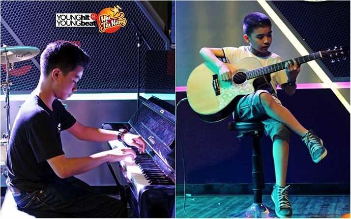 Trong khuôn khổ đêm nghệ thuật, bên cạnh những màn trình diễn xuất thần, hai chàng hot boy Quang Huy và Anh Khoa đã lần lượt khiến khán giả Hà Nội trầm trò vì ngón đàn chuyên nghiệp của mình.