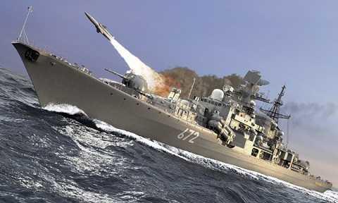 Tàu chiến Nga phóng tên lửa tiêu diệt mục tiêu