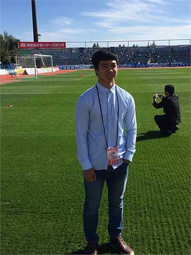 Dự khán trận đấu của đội nhà nhưng tiếc Mito Hollyhock chỉ có được trận hòa 0-0.