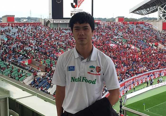 Ngày 31/10, Công Phượng tới dự khán trận chung kết Cup Quốc gia Nhật Bản tại sân Saitama 2002.