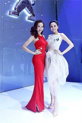 Cùng xuất hiện trong một sự kiện, Á hậu Kim Duyên đọ sắc bên Hoa hậu thế giới người Việt Diễm Hương.