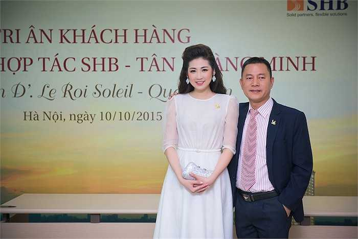Tại sự kiện, Tú Anh tham dự với tư cách là đại sứ thương hiệu.