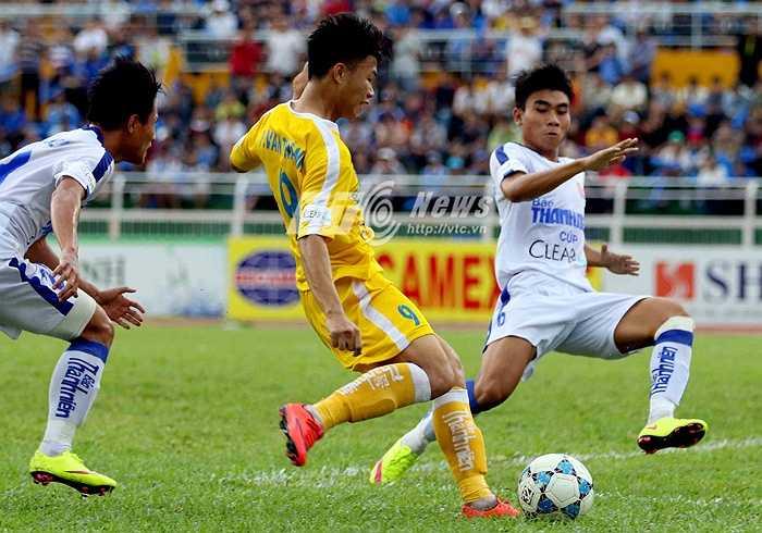 Trước trận chung kết với U21 An Giang, Văn Thành đã có 5 lần lập công giúp U21 Hà Nội T&T toàn thắng. (Ảnh: Quang Minh)