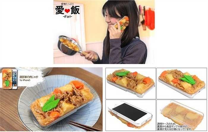 Đồ ăn cũng trở thành cảm hứng cho các nhà sản xuất, tung ra những mẫu vỏ bắt mắt. Những chiếc iPhone bọc bằng món Nikujaga.
