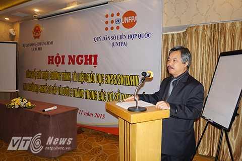 TS. Nguyễn Hồng Minh – Phó Tổng Cục trưởng Tổng cục Dạy nghề phát biểu trong chương trình.