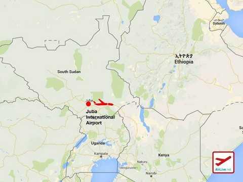 Bản đồ khu vực máy bay gặp nạn