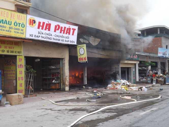 Hiện trường vụ cháy - Ảnh: Nguyễn Lê