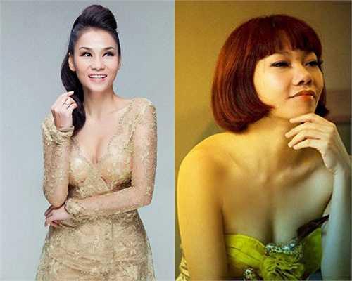 Cùng là những ca sĩ được hâm mộ nhất nhì làng nhạc Việt, Thu Minh được khen bởi những đường cong hút mắt, còn Hà Trần mang vẻ đẹp lạ, tự nhiên, không phô trương.