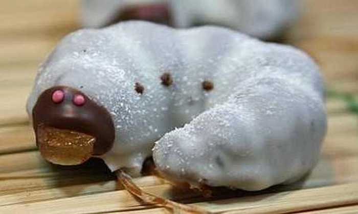 Kẹo socola hình sâu bọ: Sản xuất bởi công ty bánh kẹo Komatsuya (Nhật Bản), những viên kẹo Youchu Choco này được làm từ socola sữa, socola trắng, ngô, khô mực và vỏ cam. Loại kẹo lạ lùng này được bán cực chạy ở Nhật Bản.