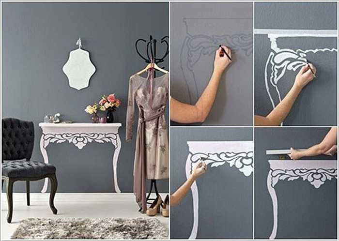 Vẽ hình, tranh tường.