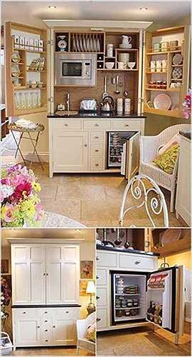 Tủ bếp tiện dụng.