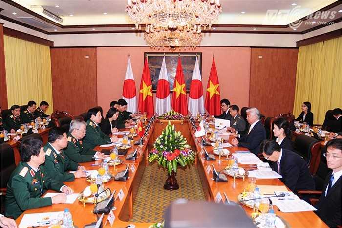 Hội đàm giữa đoàn Bộ quốc phòng Việt Nam - Nhật Bản