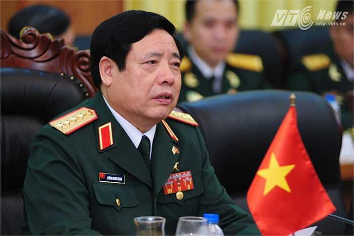 Bộ trưởng Quốc phòng, Đại tướng Phùng Quang Thanh trong hội đàm (Tùng Đinh/Thực hiện)