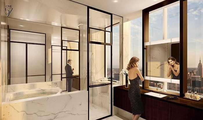Có 7 phòng tắm, 1 phòng xông hơi và phòng tắm bồn